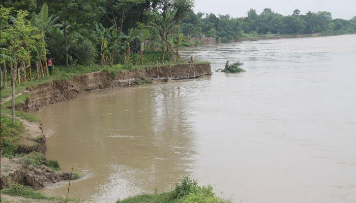 গড়াই নদী গিলে খাচ্ছে শৈলকুপার গ্রামগুলো