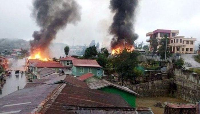 মিয়ানমারে সেনা-বিদ্রোহী সংঘর্ষ, ভারতে শরণার্থীদের ঢল