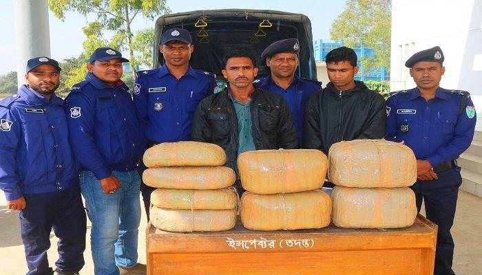 সুনামগঞ্জে ২৪ কেজি গাঁজাসহ আটক ২ মাদক ব্যবসায়ী