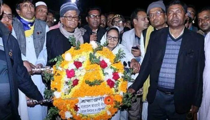 মমোংলায় ভাষা শহীদদের প্রতি শ্রদ্ধা নিবেদন উপমন্ত্রীর